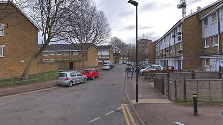 The woman was attacked in Redclyffe Road, going into William Morley Close. Pic: Google