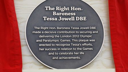 The plaque. Picture: Mayor of London's Office