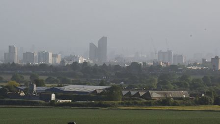 Redbridge viewed from the Redbridge Cycle Centre showing a veil of pollution. Picture: Ken Mears