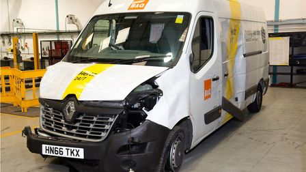 Evidence from the London Bridge terror attack inquest. The van used in the incident. Picture: Met Po