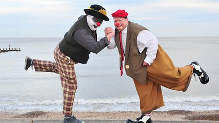 Clowns from around the UK gather in Lowestoft for a week long clown convention.Clowning around on Lo