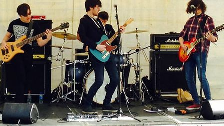 AJQJ - a young alternative rock band hailing from Norwich - on stage. Picture: CHRIS BARKER