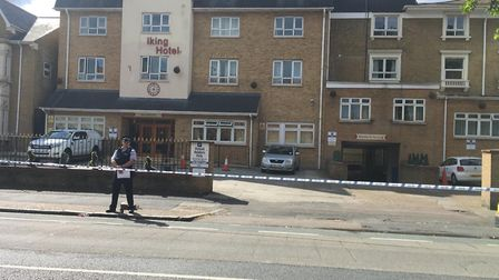 Police have put a cordon in place near the scene of a stabbing in Warwick Road, Forest Gate. Picture