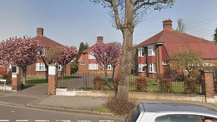 The cottages in Station Lane, Hornchurch, designed as a memorial to Jack Cornwell, Boy (1st Class).
