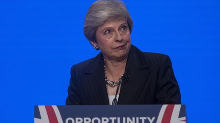 Prime Minister Theresa May delivers her keynote speech at the Conservative Party annual conference a