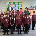 East Ham MP Stephen Timms with Langdon Academy pupils. Picture: Ali Gordon
