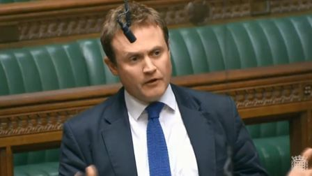 Tom Tugendhat, MP for Tonbridge and Malling, in the House of Commons. (Parliament TV)