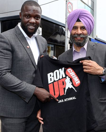 Box Up founder Stephen Addison with Cllr Jas Athwal. Picture: Melissa Page