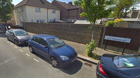 The woman was injured on Nottingham Avenue, Canning Town. Picture: Google Maps