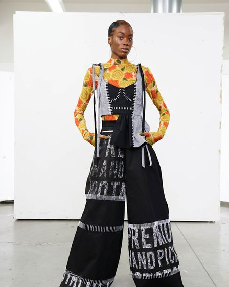 A design by UEL fashion student Jasmin Michel. Picture: OLIVER SAVAGE