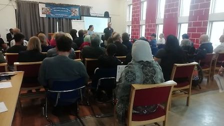 Around 50 people attended the public Q&A session with LLDC's case officer. Picture: Archant