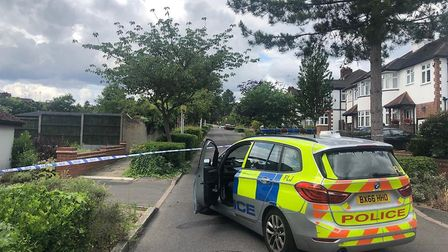 Police were called to reports of a shooting at a house in Malvern Drive at around 11pm on Thursday,