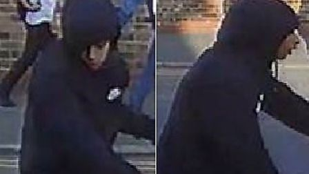 The police have released images of two suspects wanted in connection with a stabbing in Canning Town