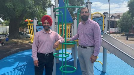 Leader of the council, Councillor Jas Athwal, with deputy leader, Councillor Kam Rai. Picture: Redbr