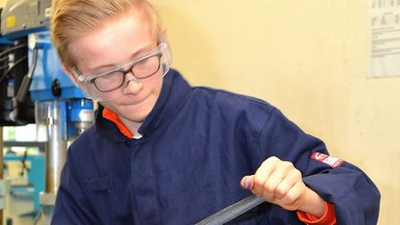 Will Evans takes part in a previous STEM School session at Lowestoft College. Picture: Mick Howes