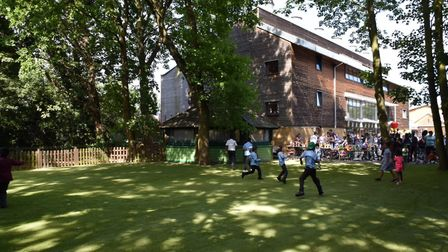 Pupils explored the new space. Picture: Andrew J Ruff Photos