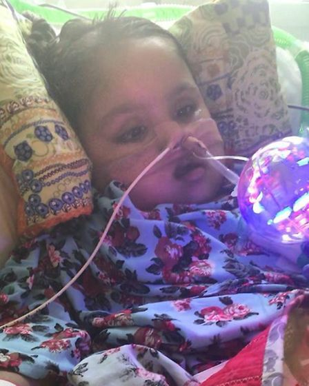 Five-year-old Tafida Raqeeb is in a coma after suffering a brain injury. Picture: Family handout