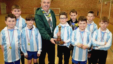 1st Carlton Colville cubs were victorious for the second year running at the Cubs five-a-side footba