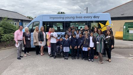 Essex Primary School have been gifted a new Variety Sunshine Coach. Picture: Essex Primary School.