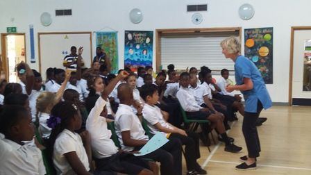 England's chief nurse has visited St Luke's Primary in Canning Town to help get more children thinki