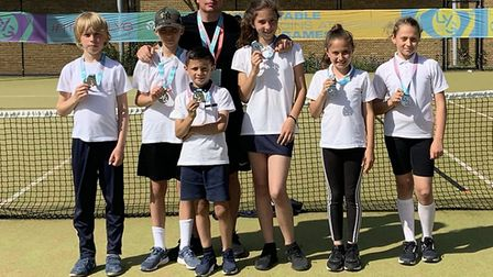 Calverton Primary School won silver for Newham in Tennis at the LYG. Picture: Rob Cooper