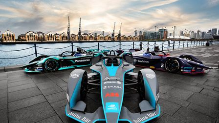 Formula E cars outside the ExCeL. Picture: Formula E