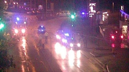 Emergency services were called to reports of a car crash on the A12, Gallows Corner in Romford. Pict