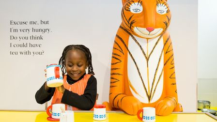 A young girl plays at the Discover Children's Story Centre. Picture: Jessica Ziebland