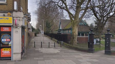 Whalebone Lane, running along the north side of Stratford Park. Picture: Google.