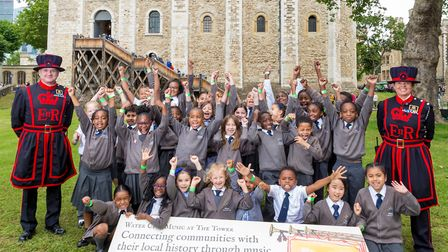 Winsor Primary School pupils at the Tower of London. Picture: Richard Lea-Hair