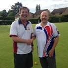 Richard Bolton and Dave Baxter met in the county quarter finals