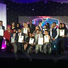 Winners of Newham College's Shining Stars awards on stage. Picture: MICHAEL ADKINS