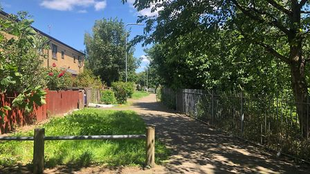 The end of Hornbeam Close, where police believe he was shot. Picture: Imogen Braddick