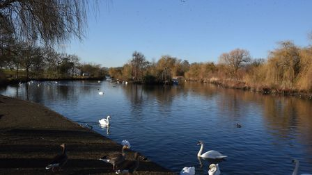 Harrow Lodge Park, where a boating lake was created in the 1950s. Picture: Ken Mears