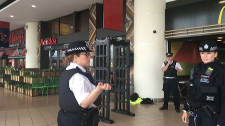Police carry out an anti-drugs and knife crime operation in Romford's town centre.