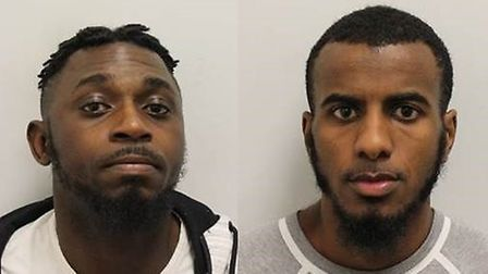 Kevin Tshoma and Hafedh Rashid have been jailed for 13 years each. Picture: Met Police
