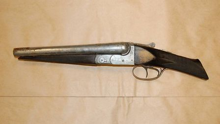 The shotgun which was found in the car. Picture: Met Police