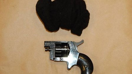 The revolver which was found in the car. Picture: Met Police
