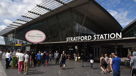 Stratford Station where the attack took place. Picture: KEN MEARS