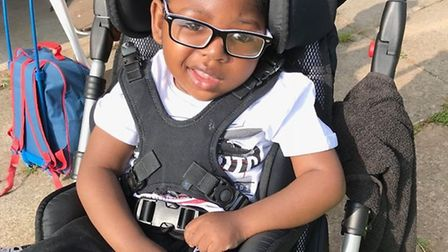 Malachi is the face of Haven House's summer appeal. Picture: Paola Noto
