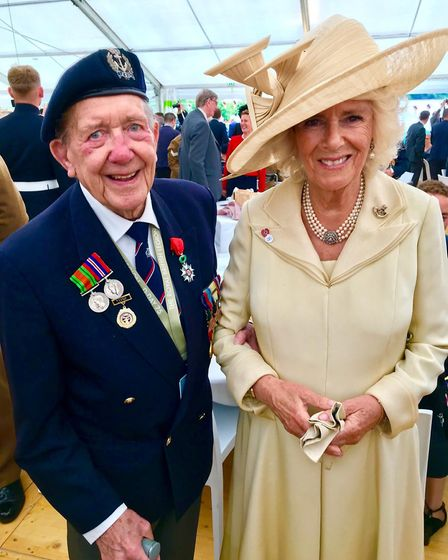 Ron with Camilla, the Duchess of Cornwall. Picture: Jennie Bardrick