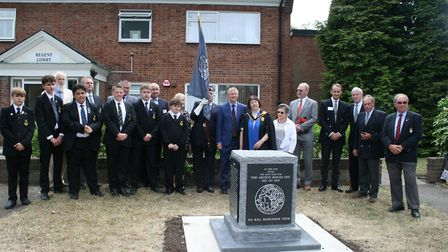 A special unveiling ceremony was held in Gidea Park for a new war memorial funded by the community.