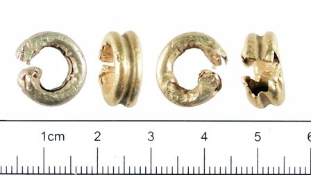 A set of Bronze Age composite rings dating back to 1300-1150BC. Picture: York Museums Trust/ Creativ