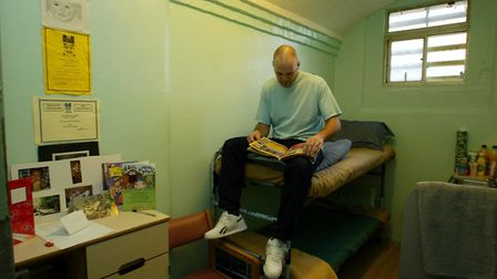 Prisoner at Chelmsford Prison. Picture: PA/ Andrew Parsons