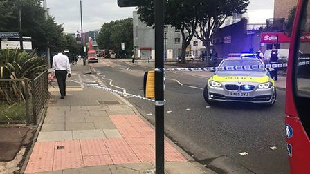 A cordon is in place on Prince Regent Lane. Picture: Jioji Laisani