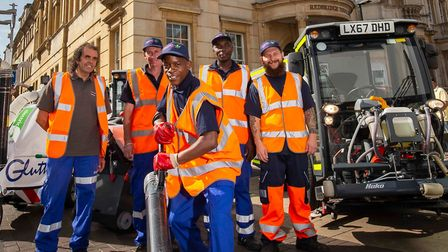 Redbridge Council hopes to bag top industry award for street cleansing. Picture: Andrew Baker