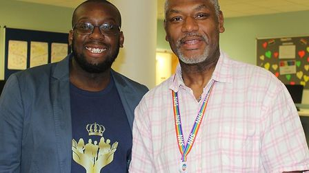 organiser Michael Magbagbeola with the NHS' first Clinical Director for Violence Reduction, Martin G