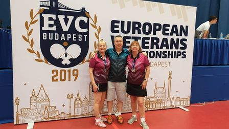 Diane Pearce (left) and Majorie Dawson (right) at the European Championships (Pic: Majorie Dawson)