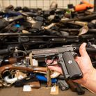 Guns from a previous Met Police firearm surrender. Picture: Dominic Lipinski