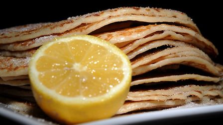 Pancakes with sugar and lemon. PRESS ASSOCIATION Photo. Issue date: Tuesday February 12, 2013. Photo